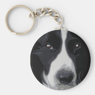 Border Collie 'sweet face' keyring keychain