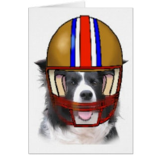 Border Collie Thanksgiving Notecard~Football Greeting Card