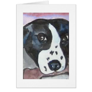 Border Collie with Bone Note Card