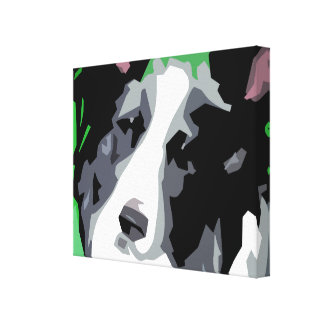 Border Collie Wrapped Canvas Prints