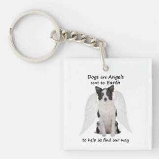 Border Collies Are Angels Keychain
