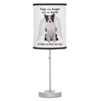 Border Collies Are Angels Table Lamp
