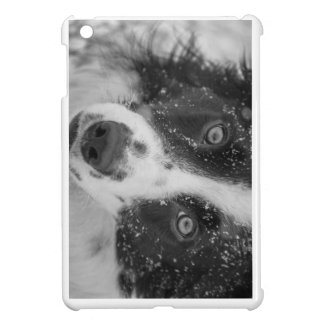 Border Collie's First Snow iPad Mini Cover