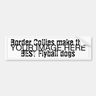 Border Collies make the best flyball dogs Bumper Sticker
