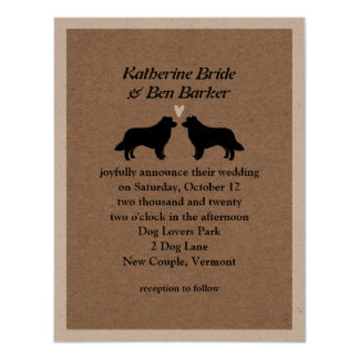Border Collies Wedding Invitation