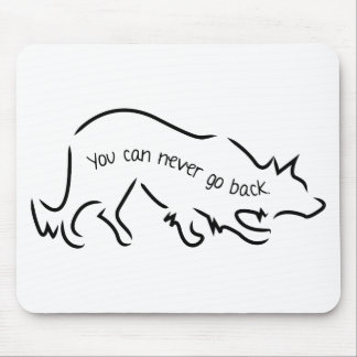 Border Collies - You Can Never Go Back Mouse Pad