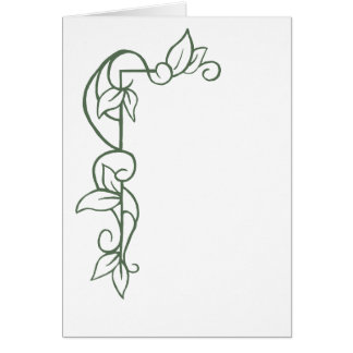 Border Leaves and Vines Card