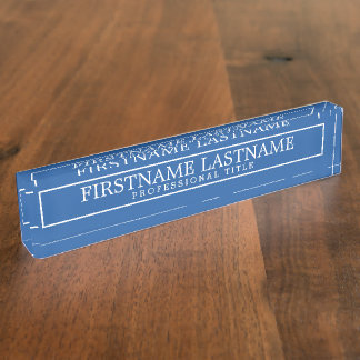 Border Royal Blue Basic Name & Professional Title Name Plates
