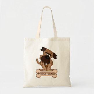 Border Terrier And Bone Budget Tote