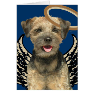 Border Terrier Angel Apparel & Gifts Card