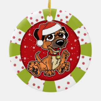 Border Terrier Christmas Circle Ornament