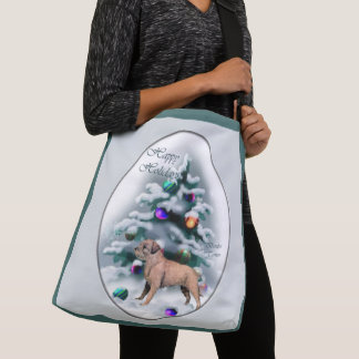 Border Terrier Christmas Crossbody Bag