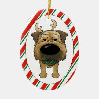 Border Terrier Christmas Ornament