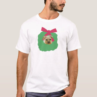 Border Terrier Christmas Wreath T-Shirt