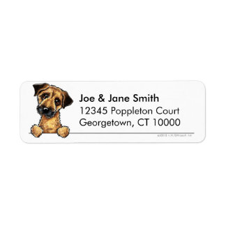 Border Terrier Clean & Simple Return Address Label