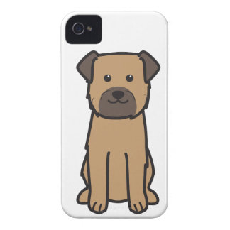 Border Terrier Dog Cartoon iPhone 4 Covers
