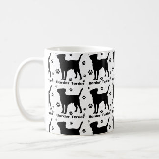 Border Terrier Dog, Pattern,  Classic White Mug