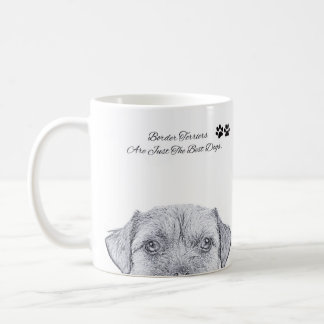 Border Terrier Dog Sketch, Gift Mug