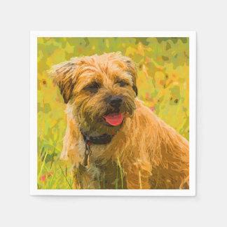 Border Terrier Dog Standard Cocktail Paper Napkins