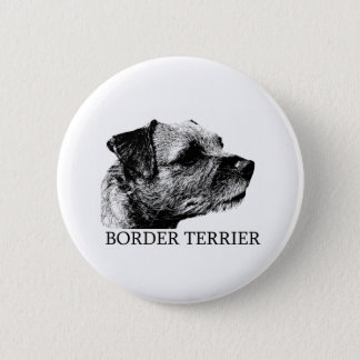 Border Terrier Drawing 2 Inch Round Button