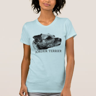 Border Terrier Drawing T-Shirt