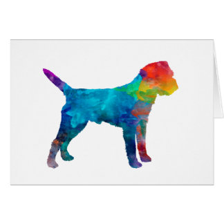Border Terrier in watercolor Card