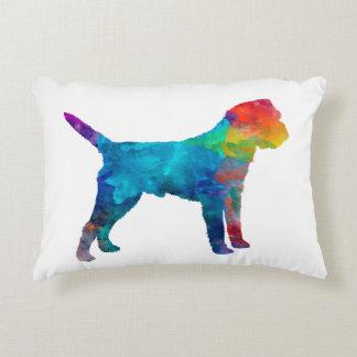 Border Terrier in watercolor Decorative Pillow