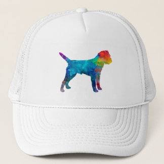 Border Terrier in watercolor Trucker Hat