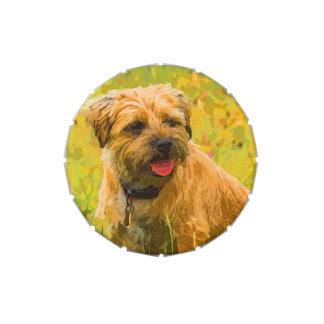 Border Terrier Jelly Belly™ Small Snip Snap Tin