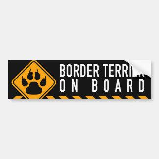 Border Terrier On Board Bumper Sticker