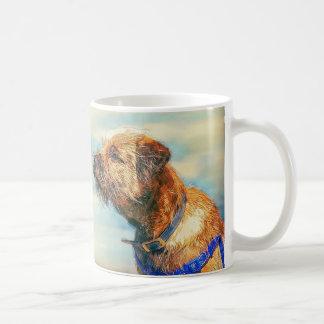 Border Terrier Painted Dog In Oils, Gift Mug