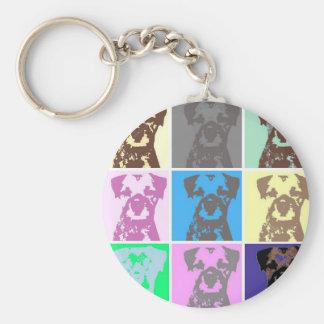 Border Terrier, part II Basic Round Button Keychain