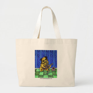 Border Terrier Playing Guitar Large Tote Bag