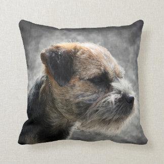 Border Terrier Polyester Throw Pillow