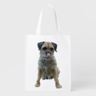 Border Terrier reusable grocery bag