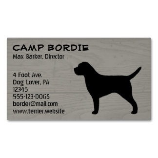 Border Terrier Silhouette Magnetic Business Card