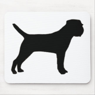 Border Terrier silo black Mouse Pad