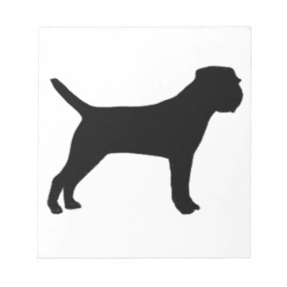 Border Terrier silo black Notepad