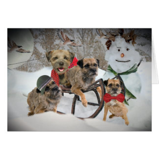 Border Terrier Tis The Season Card