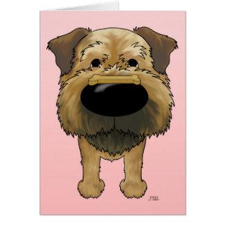 Border Terrier Valentines Card