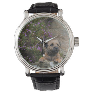 Border terrier wrist watch
