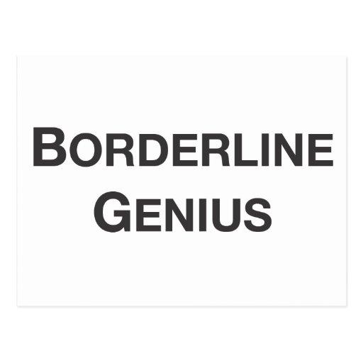 borderline genius.ai post card
