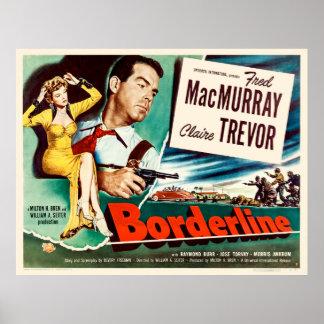 Borderline - Vintage 1950 Movie Poster