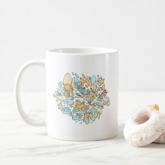 Borders Abstract Watercolor Coffee Mug