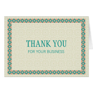 Borders & Patterns 3 Thank You For Your Business Note Card
