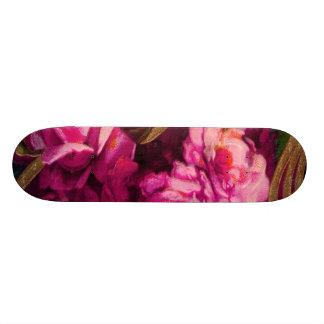 Bordure rose vintage d'or de roses plateau de skate