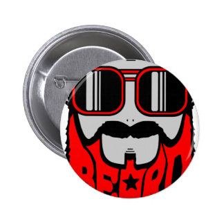 bore red 2 inch round button