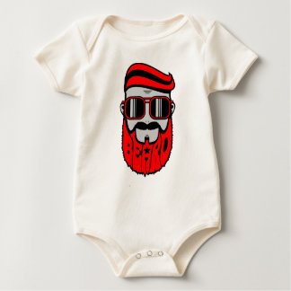 bore red baby bodysuit