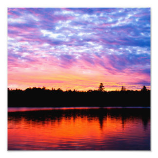 """Boreal Sunset"" Landscape Photo Print"