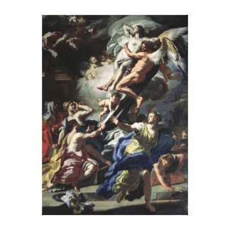 Boreas abducting Oreithyia Stretched Canvas Prints